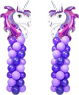 """Purple Unicorn Balloon Arch Kit 2 Sets 80"""" Height With 66pcs Latex Balloon DIY"""