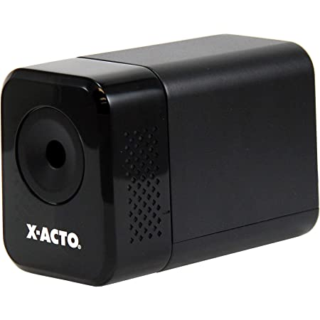 X-ACTO Electric Pencil Sharpener   XLR Heavy Duty Electric Pencil Sharpener, Quiet Motor, Pencil Saver Technology, Auto-Reset and Safe Start