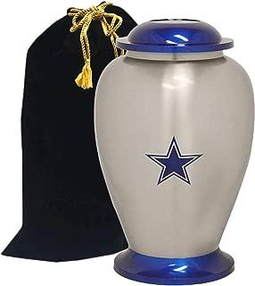 Eternitymart's Cowboy Star Cremation Urn - Exclusive Metal Urn - Solid Metal Urn for Ashes, Cremation Urn with Free Velvet Bag