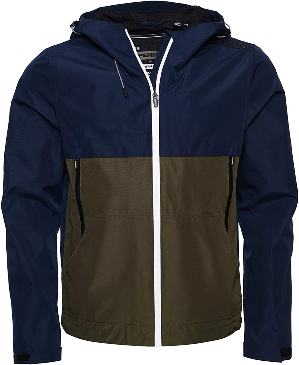 Superdry Men's Tech Colourblock Blue Free shipping New Year-end gift Jacket Elite