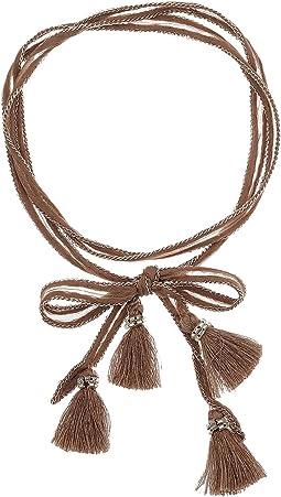 Chan Luu - Chiffon Solid Necktie with Tassels