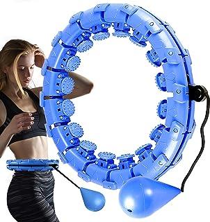 JOOAYOU Hula ring ring ring med viktboll, smart fitnessring ringar vuxen [med mjuk mått] träning 24 knutar avtagbar juster...