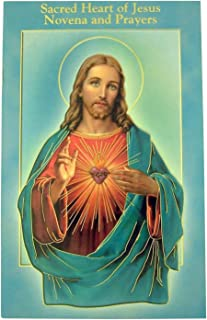 Fratelli Bonella Milano Design Gold Stamped Illustrated Novena Book of Prayers and Devotions of Sacred Heart of Jesus, Pack of 10