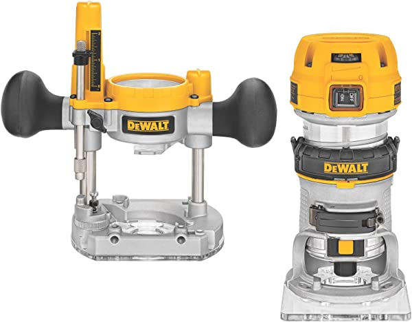 DEWALT Router Fixed Plunge Base Kit Variable Speed 1 25 HP Max Torque DWP611PK