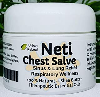 Urban ReLeaf NETI Chest Salve ! Sinus & Lung Relief Balm. Soothing, Fresh, Clearing, Healing Aromatherapy. Nice Before Bed! Healing Botanicals Colds Cough Therapy 100% Natural