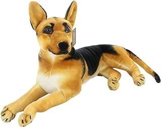 JESONN Realistic Stuffed Animals German Dog Shepherd Plush Toys (18.9 Inch)