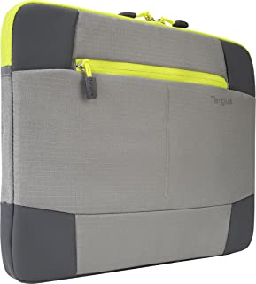 Targus Bex II Sleeve for 14-Inch Laptops, Gray and Spring Yellow (TSS878)