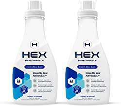 HEX Performance Anti-Stink Detergent, Fresh Clean Scent, 32 Loads, 2pk