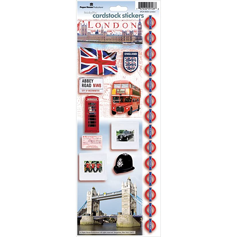 Paper House Productions STCX-0036E Travel Cardstock Stickers, London (6-Pack)