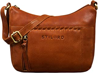 "STILORD Penny"" Lederhandtasche Damen Umhängetasche Leder Handtasche Frauen Umhängen Vintage für Damen-Tasche Abendtasche Echtleder Tasche"