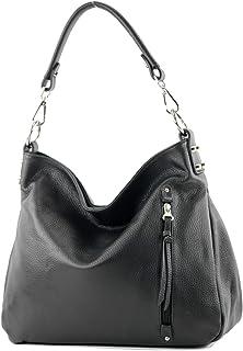 modamoda de - T183 - ital. Damen Schultertasche aus Leder
