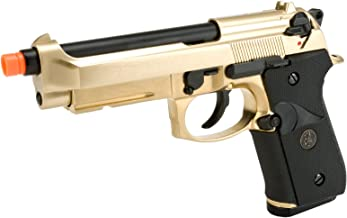 Evike - WE-USA NG3 Golden M9 Railed Heavy Weight GBB Airsoft Gas Blowback Pistol - (29467)