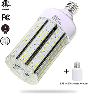 100W LED Corn Light Bulb Large Mogul Base E39 LED Bulb AC100-277V 5000K Daylight LED Replacement 400w Metal Halide HID HPS light bulb for Industrial Commercial Workshop Garage Warehouse High Bay light