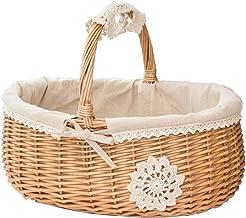 Boîte de Rangement Rotin, Bac de Rangement, Panier de Panier en Osier Naturel, Panier en Osier Rattan Basket de Rangement ...