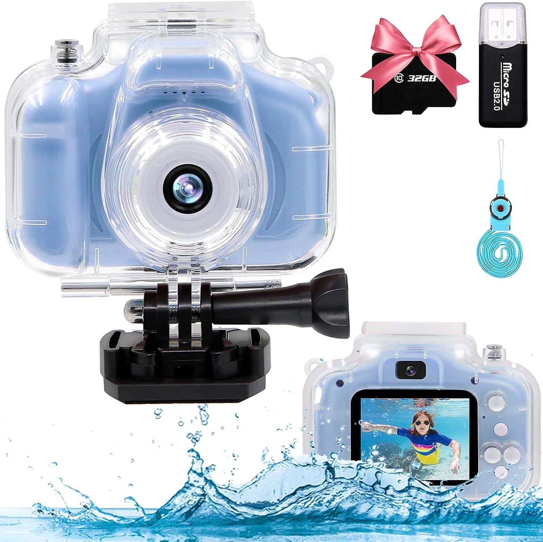 YTETCN Kids Waterproof Camera for Boys 12MP Translated San Antonio Mall Girls and 3-12 Aged