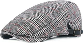 Men's Cotton Plaid Flat Cap Ivy Gatsby Newsboy Hunting Hat
