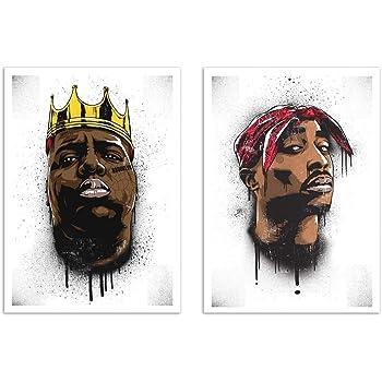 Wall Editions 2 Art-Posters 30 x 40 cm - Biggie and Tupac - Bokkaboom