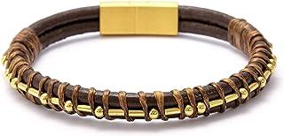 MEMGIFT Fuck Cancer Morse Code Leather Bracelets for Men Women Funny Inspirational Cancer Survivor Gifts