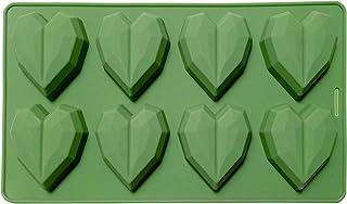 C&G INDIA 8-Cavity Pinata Diamond Heart Shape for Chocolate Cake Soap ice latice Candle Flexible Silicone Mold/Mould(Rando...