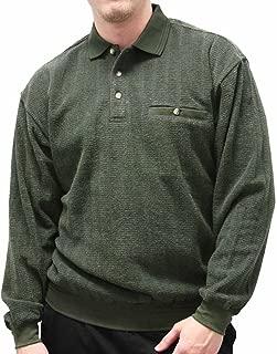 Safe Harbor Allover Long Sleeve Banded Bottom Shirt 6198-102 Hunter