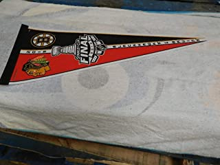 2013 CHICAGO BLACKHAWKS STANLEY CUP FINALS HOCKEY PENNANT FULL SIZE 30 X 14