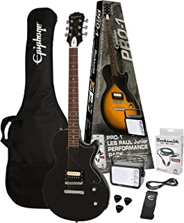 Epiphone PPEG-ENPLEBCH1-15 Electric Guitar Pack, Ebony