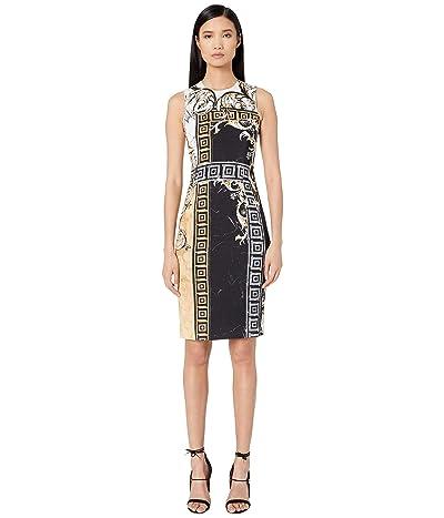 Versace Collection Printed Sheath Dress (Black/Gold) Women