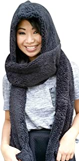 Super Cute Extra Thick Cozy Fluffy Winter Warm Hoodie Gloves Pocket Hat Scarf