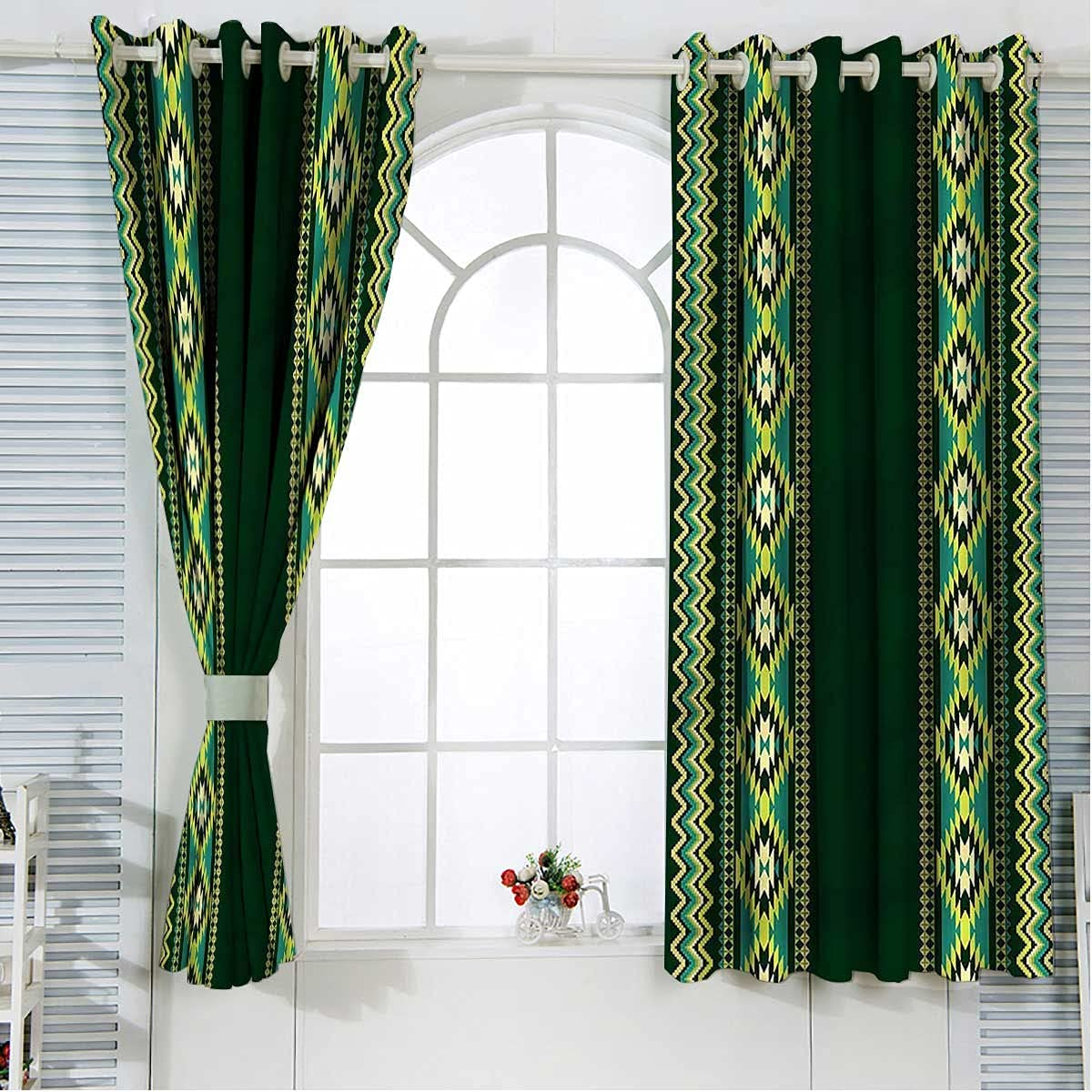 Aztec Sun Blocking Curtains 63 Special price for a limited time Inch Borders Length Vertical in G Sale item
