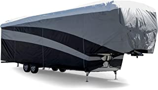 Camco ULTRAGuard Supreme RV Cover-Extremely Durable Design Fits Fifth Wheel Trailers 34' -37', Weatherproof with UV Protection and Dupont Tyvek Top (56150)