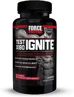 Force Factor Test Ignite Testosterone Booster & Fat Burner, 60 Capsules