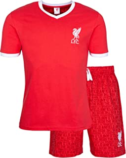 Liverpool F.C. Mens Pyjamas Cotton Pjs Official Football Gifts For Men