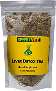 Liver Detox Tea Organic SpeedyVite Cleanses, Supports Liver, Gallbladder Health with Dandelion Root, Dandelion Leaf, Fennel, PAU d' Arco bark, Sassafras, Ginger
