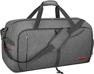 65L Travel Duffel Bag, Foldable Weekender Bag with Shoes Compartment for Men Women Water-proof & Tear Resistant