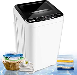 Washing Machine Nictemaw Compact Portable Washer 1.72 Cu.ft/15.3Lbs Full-Automatic Laundry Washer/Spinner with 10 Washing ...