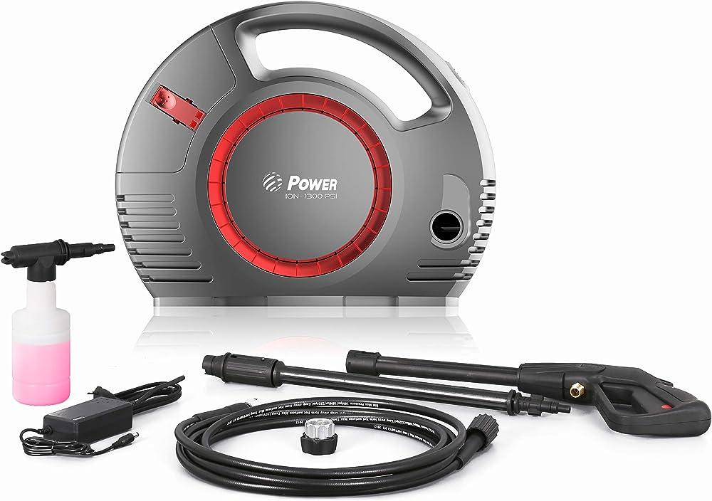 Power Hidrolimpiadora de Alta Presión 1300 PSI 1.2 Gpm sin Cable de batería de Litio de 36V sin escobillas Rojo