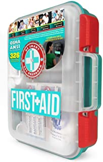Be Smart Get Prepared First Aid Kit, Teal, 327 Piece Set, 1 Count