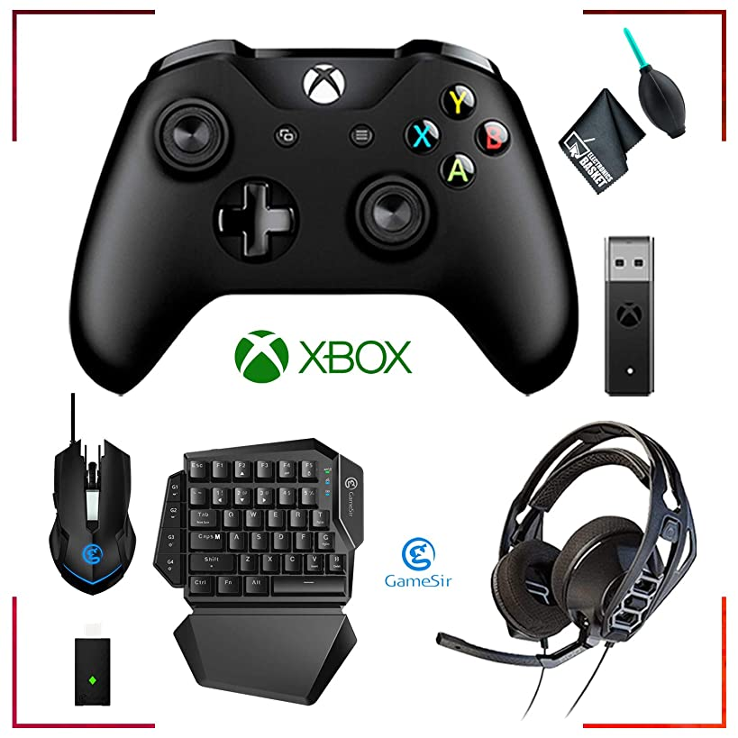 Microsoft Xbox Wireless Controller + GameSir VX Aimswitch Keyboard and Mouse + RIG 500HX Headphones and Accessories