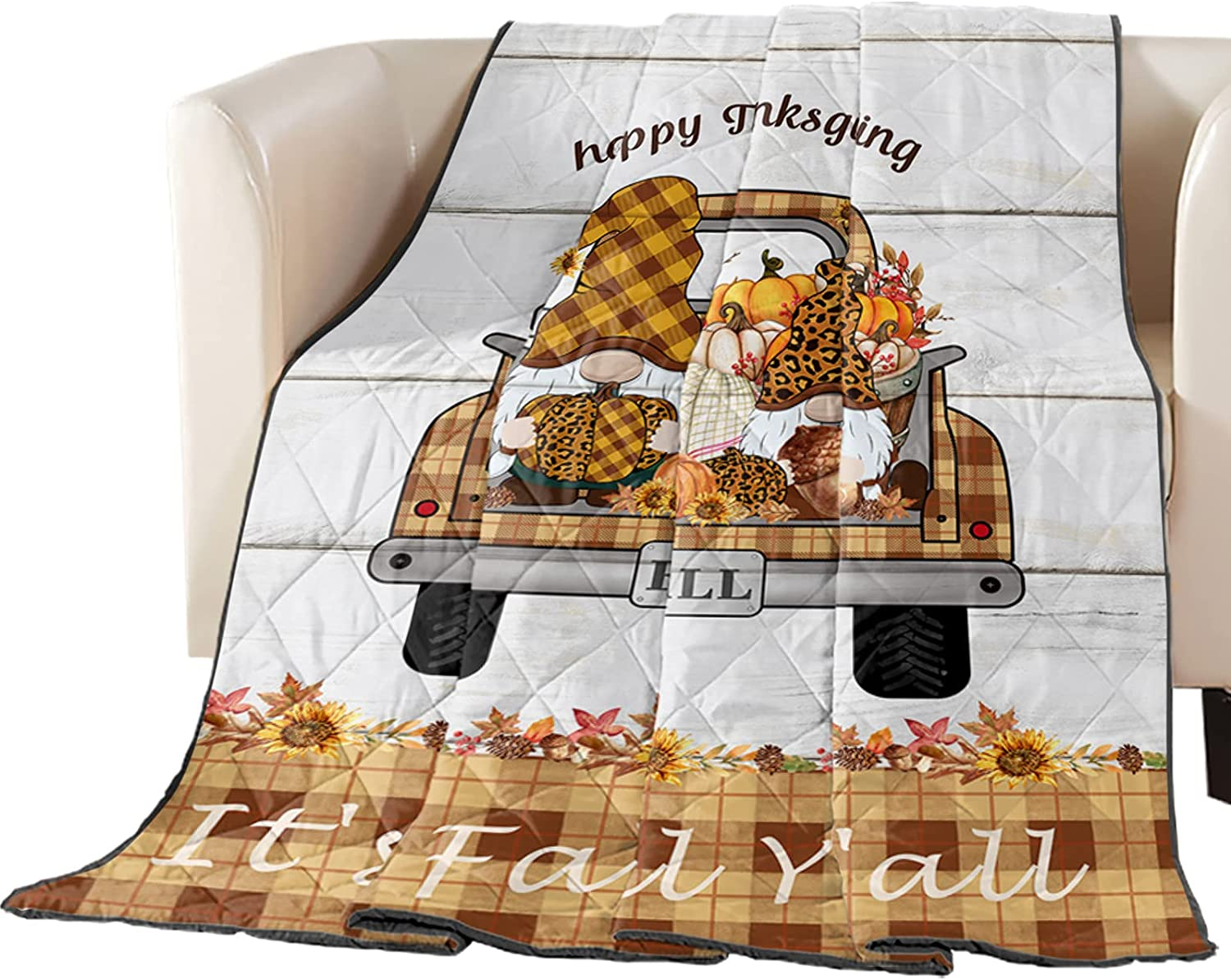 Down Alternative Reversible Comforter Attention brand Blanket Throw specialty shop Quilted Fall