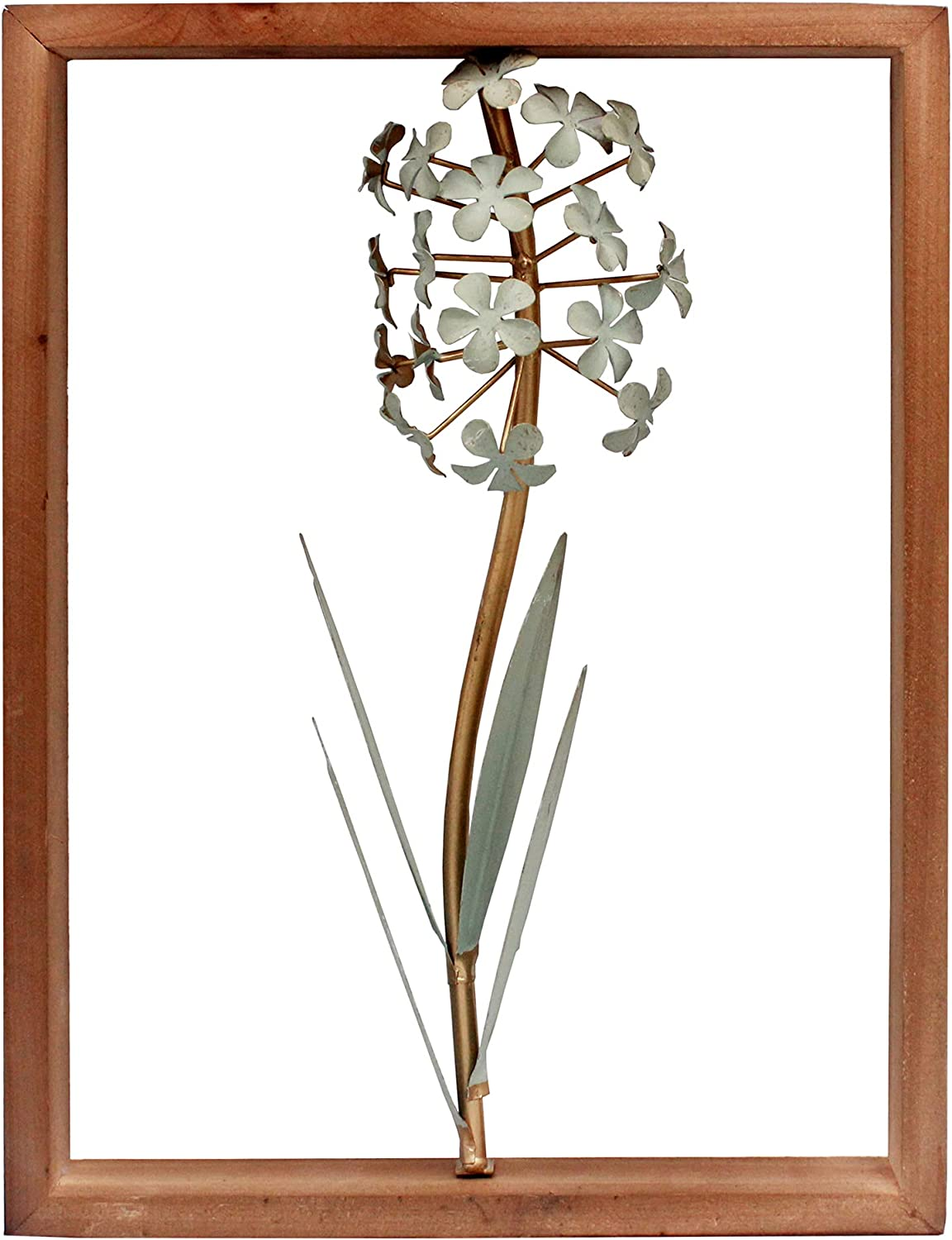 Funerom Metal Flower with Wood for Cheap mail order Max 85% OFF sales Wall Living Frame Decorations
