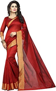 TRYme Fashion Artificial Silk Saree With Blouse Piece