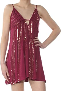 Free People Womens Here She is Embellished Casual Slip Dress