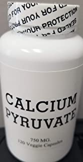 Calcium Pyruvate 750 Mg. Veggie Capsules