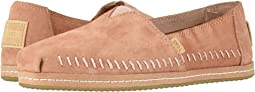TOMS Sand Pink Pig Suede Leather Wrap