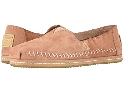 TOMS Alpargata Leather Wrap (TOMS Sand Pink Pig Suede Leather Wrap) Women