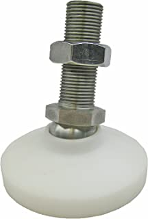 3.94 Thread Length 1.57 Base Diameter Inc. 1.57 Base Diameter Inch Size J.W 1//2-13 Thread Size Winco 8T100SA5//GV Series GN 440.5 Stainless Steel Leveling Feet with Rubber Pad