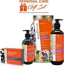 Natural Solution Bath Spa Gift Set,4 Pieces Bath & Body Set for Men/Women,Includes Body Soak,Body Wash,Body Lotion & Soap Bar