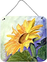 Caroline's Treasures RDR2001DS66 Flower-Sunflower Aluminum Metal Wall or Door Hanging Prints, 6 x 6, Multicolor