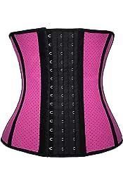 M/&S/&W Womens Vintage Slim Fit Zipper Underbust Waist Training Steel Boned Shapewear Corset