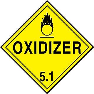 Accuform Signs MPL501VS1 Adhesive Vinyl Hazard Class 5/Division 1 DOT Placard, Legend